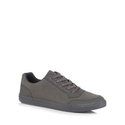 RED HERRING MENS GREY TRAINERS SIZE UK 8 EU 42 NH180 YY 02