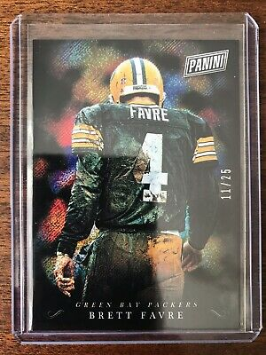2018 Panini Black Friday Brett Favre Foil Refractor SSP 1125 Green Bay Packers