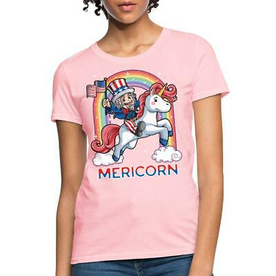 4th Of July Mericorn Uncle Sam On Unicorn Womens T-Shirt by Spreadshirt™