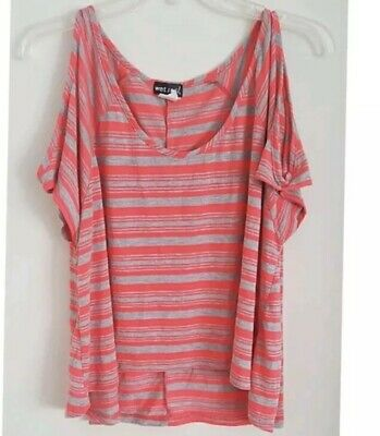 Wet Seal Neon Pink And Gray Shirt Size Large