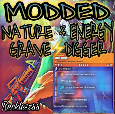 Modded Nature ⚡️ - Energy 🌀 Grave Digger - Fortnite Save The World
