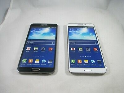 New Lot Of 2 Samsung Galaxy Note 3 Dummy Phone Display Toy Demo Android WHT BLK