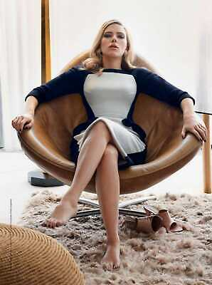 A Scarlett Johansson On A Chair With A Dress 8x10 Picture Celebrity Print