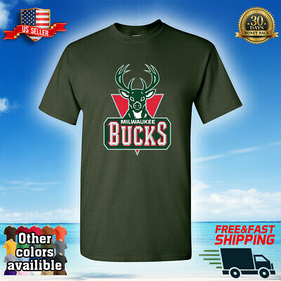 Milwaukee Bucks Custom Fans T-Shirt NBA Basketball Tee Jersey 001 FAST SHIPPING