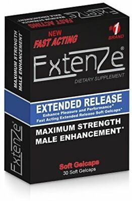 ExtenZe Extended Release - 30 Liquid Gel Capsules - Damaged Boxes - Exp 012020