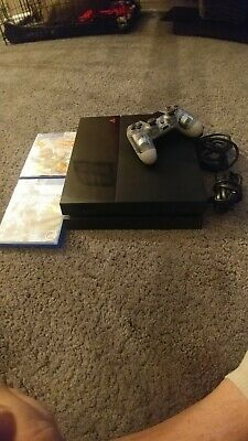 Sony PlayStation 4 PS4 - 500 GB Black Console Bundle W Controller - Games