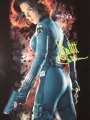 Scarlett Johansson Avenger signed in person 8x10 photo - Coa