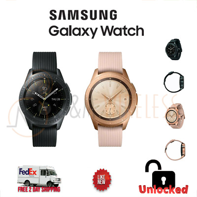 Open Box Samsung Galaxy Watch SM-R815U 42MM BluetoothWIFI - 4G LTE Unlocked