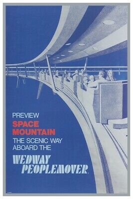 DISNEYS WEDWAY PEOPLEMOVER - COLLECTOR POSTER 4 DIFFERENT SIZES  B2G1 FREE