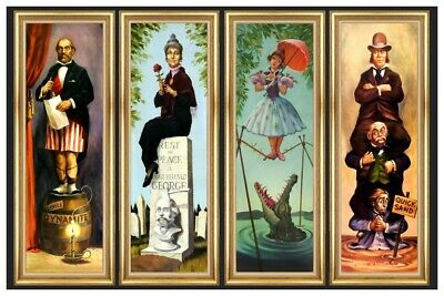 HAUNTED MANSION STRETCHING ROOM ALL 4 SCENES ON 1 POSTER -  B2G1 FREE