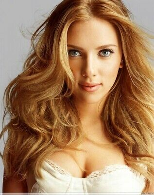 A Scarlett Johansson Smiling Hair Flying 8x10 Picture Celebrity Print