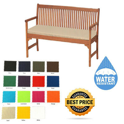 Outdoor Waterproof Fabric 2 3 4 Seater Bench Pad Garden Furniture Seat Cushion