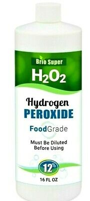 H2O2-Hydrogen Peroxide Food Grade 12 From 35 16 fl ozl FREE PRIORITY SHIPPING