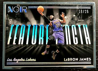 1825 LEBRON JAMES 2018-19 Panini Noir 261 Feature Length Lakers Framed Rare
