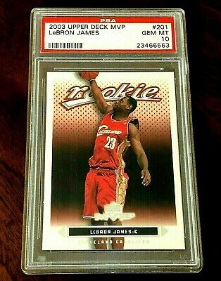 2003 Upper Deck MVP 201 - LeBron James RC - PSA 10 - Gem Mint