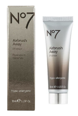 No7 Airbrush Away Primer Hypo-Allergenic - Flawless in Seconds - 1oz- 30ml NIB