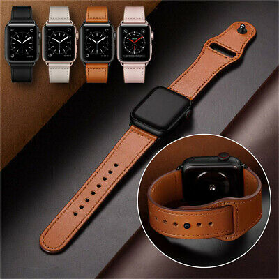 4044mm Luxury Leather iWatch Strap for Apple Watch Band Series 4 3 2 1 3842mm