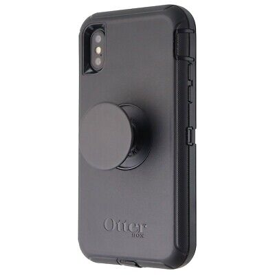 OtterBox - Pop Defender Series Screenless Phone Case for iPhone Xs  X - Black