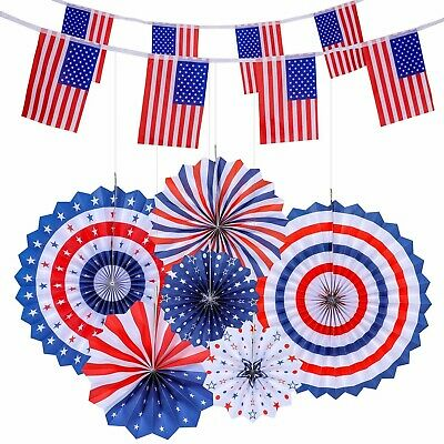 4thFourth of July Patriotic Decorations - Red White Blue Hanging4th of July