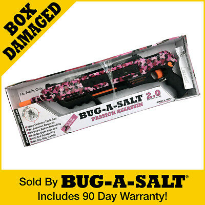 DAMAGED BOX Authentic PINK CAMOFLY BUG-A-SALT 2-0 GUN Never Used