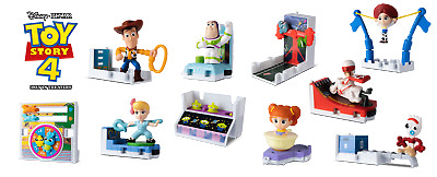 Mcdonalds 2019 Happy Meal Toy Story 4 Complete Set of 10 plus Sticker