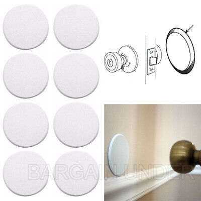 8 Pack Door Knob Self Adhesive Protector 3 Drywall Wall Shield Round White BU08