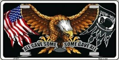 All Gave Some Gave All Eagle and Flag Design Novelty License Plate 6 x 12