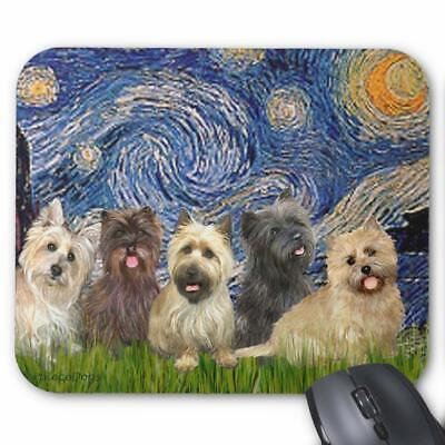 Cairn Terriers -Five- Starry Night Mouse Pad