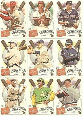 2019 TOPPS ALLEN - GINTER GINTER GREATS INSERTS YOU PICK