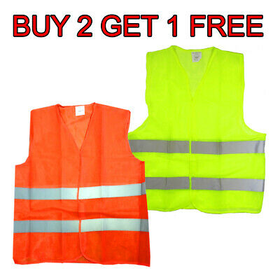 Neon Security Safety Vest W High Visibility Reflective Stripes BUY 2 GET 1 FREE