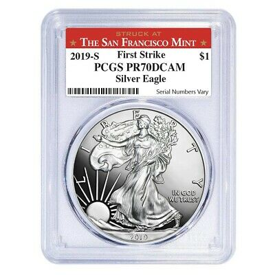 2019-S 1 oz Proof Silver American Eagle PCGS PF 70 DCAM First Strike SF Label