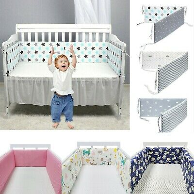 78 Breathable Baby Crib Bumper Mesh Liner for Cradle Newborn Pad Bed Protector
