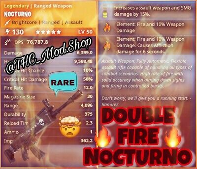 Modded Double Fire Nocturno 🔥🔥 - Fortnite Save The World