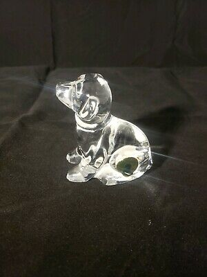 Genuine Waterford Lead Crystal Young Labrador Figurine From Ireland