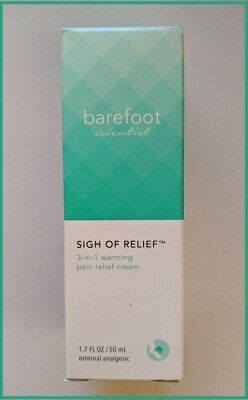 barefoot scientist Sigh of Relief 3-in-1 Warming Pain Relief Cream 1-7oz  50ml