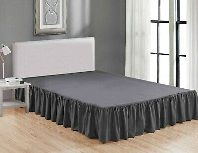Super Soft Solid Brushed Microfiber 14 Gathered Bed Skirt Dust Ruffle