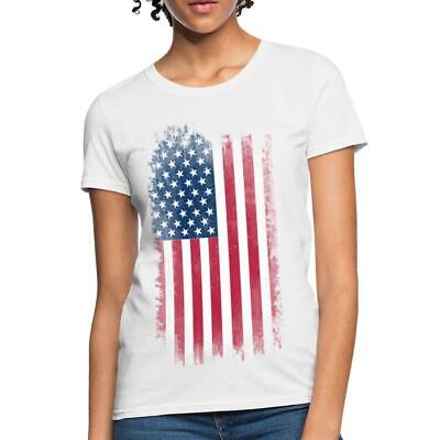 USA National Flag 4th Of July Womens T-Shirt