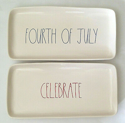 NEW Rae Dunn by Magenta Fourth Of July - Celebrate Platters Trays 2018 Release