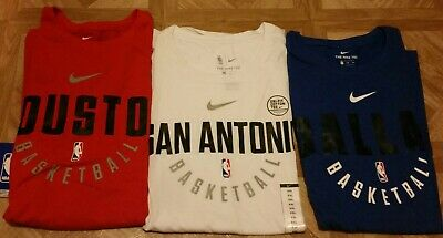Nike Dri-Fit NBA Basketball T-Shirts Size XXL MavericksRocketsSpurs Brand New