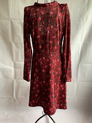 And Other Stories Red Dress Sz Eu38