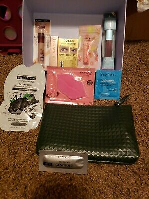 Beauty Samples Lot TarteSephora TooFacedIpsyBagLancomeLipMask-