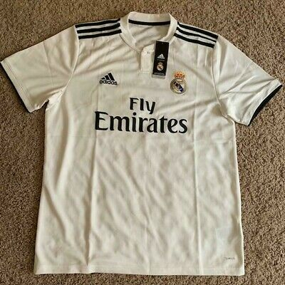 Adidas Mens Real Madrid Home SoccerFootball Jersey 1819 Size L NWT 90 Retail