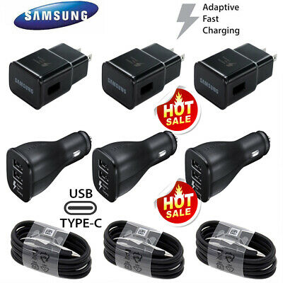 Original Samsung Galaxy S8 S9 S10- Note8 Plus Fast Car Wall Charger Type-C Cable