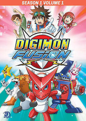 DIGIMON FUSION SEASON 1  VOLUME 1  3 DVD Set 15 Episodes New - Sealed