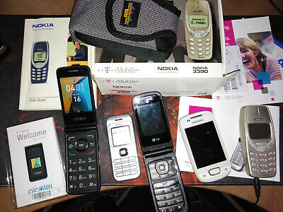 5 of vintage cell-phones