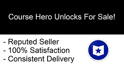 Files for 20 Course Hero Account Unlocks - INSTANT DELIVERY - 247