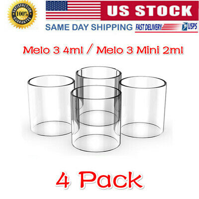 4Pack of Melo 3 4ml  Melo 3 Mini Tank 2ml Replacement Pyrex Glass Tube US STOCK