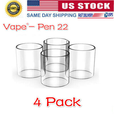 4 Pack of Pen 22 Replacement Pyrex Glass Tube 3ml US STOCK