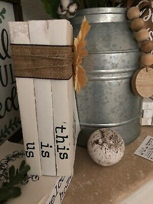 Stamped Books • Farmhouse decor • Rae Dunn Inspired Decor • This Is Us • UNIQUE