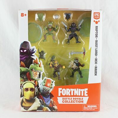 Fortnite Battle Royale Figures Squad Pack Raptor Rust Lord Rex Raven BRAND NEW